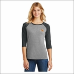 Rainier HS Staff District Made Ladies Perfect Tri 3/4-Sleeve Raglan. DM136L.