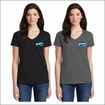 Ridgeline Staff Gildan Ladies Heavy Cotton 100% Cotton V-Neck T-Shirt. 5V00L.