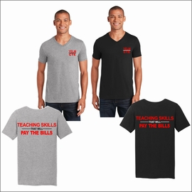 Yelm CTE Apparel Mens V-Neck T-Shirt. 64V00.