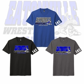 "Eatonville HS Wrestling  District Perfect Tri Blend ""Soft Style"" Tee. DM130."