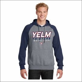 Yelm Twisters Raglan Colorblock Pullover Hooded Sweatshirt. ST267.