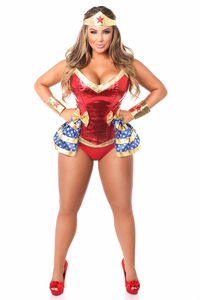 Top Drawer Premium 4 PC Superhero Corset Costume