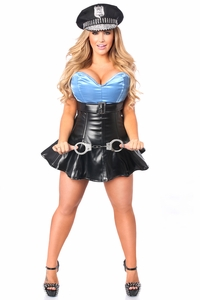 Top Drawer Premium Cop Corset Costume