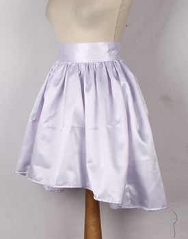 White Satin Short Skirt