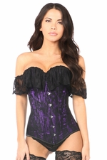 Lavish Purple Lace Off-The-Shoulder Corset