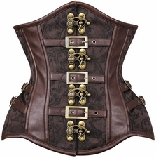 Steampunk CURVY Steel Boned Under Bust Corset
