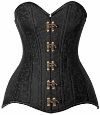 Top Drawer CURVY Brocade Double Steel Boned Corset