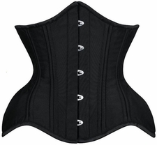 Steel Boned Satin CURVY Waist Training Corset