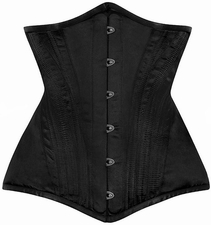 Steel Boned Long Line Matte Satin Waist Training Corset