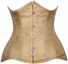 Lavish CURVY Gold Brocade Under Bust Corset
