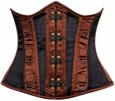 Top Drawer Steel Boned Steampunk Underbust Corset