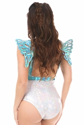 Teal Holo Body Harness w/Wings - Small