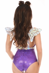 Silver Holo Body Harness w/Wings - Small