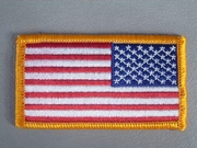 """USA Flag Patch Reversed Military Issue """"Sew On""""  2"""" x 3.25"""""""