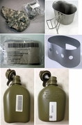 US Military Issue 1 Qt Canteen Set - 4 Piece,Canteen,Cup,Stand & ACU Cover