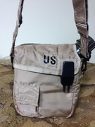 USGI COVER, WATER CANTEEN, 2QT.COLLAPSIBLE W/ SLING: COLOR: TAN