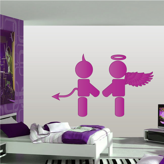 Evil and Good Love Valentine's Day Decal