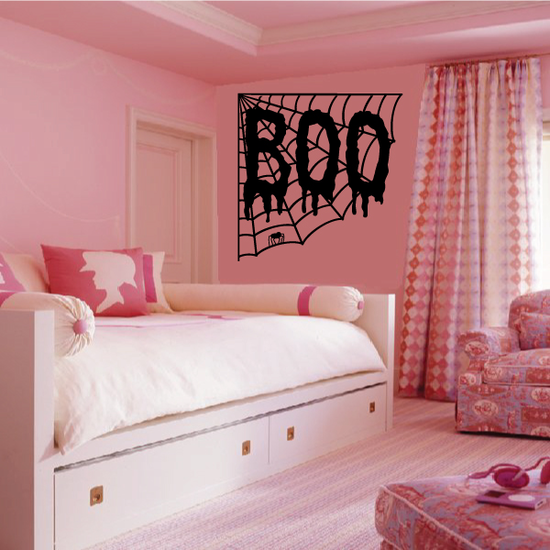 Webbed BOO Decal