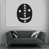 Halloween Stitched Mask Decal