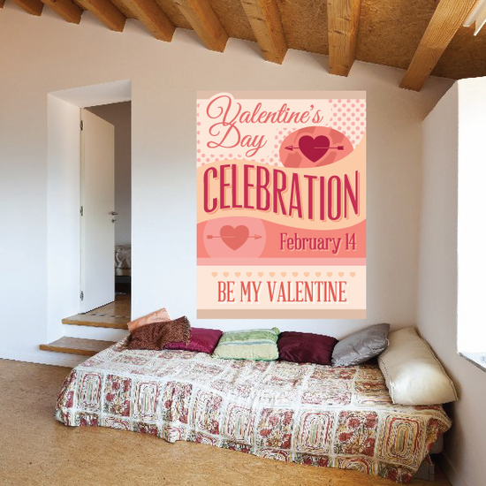 Valentines Day Celebration February 14 Be My Valentine Sticker