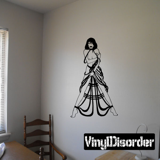 Woman with Rope Dress Decal