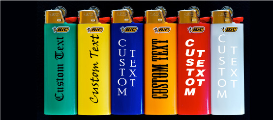 Lighters Custom Text Decals