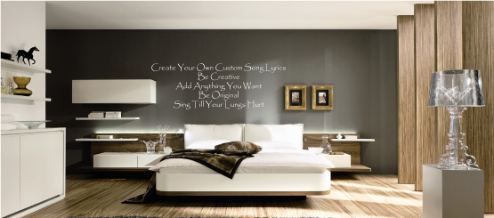 Song Lyrics Text Decals