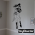 Intrigued Warrior Woman Decal