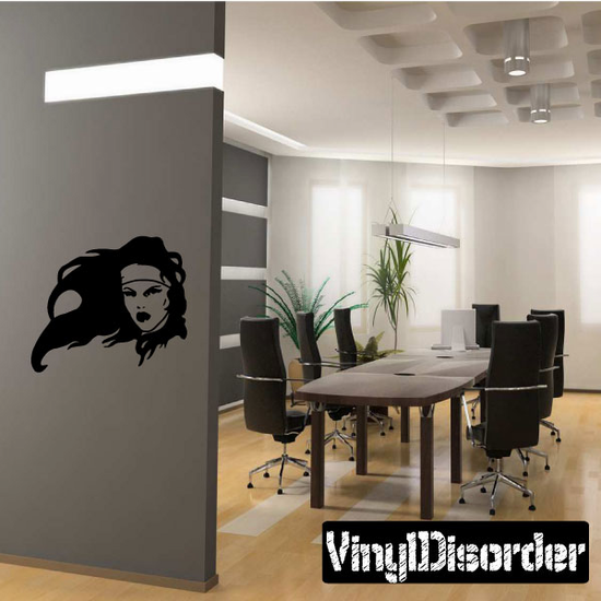 Warrior Woman in the Breeze Decal