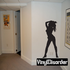 Exotic Dancer Silhouette Decal
