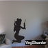 Sitting Cowgirl Silhouette Decal