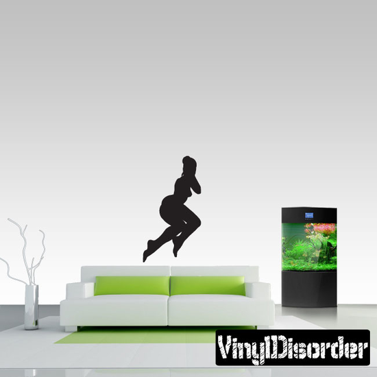 Reclining Woman Silhouette Decal