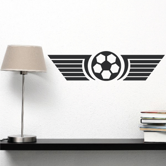 Soccer Ball With Wings Quote Wall Decal - Vinyl Decal - Car Decal - Vd008