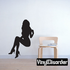 Sitting Woman in Heels Silhouette Decal