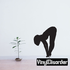 Woman Fixing Heels Silhouette Decal