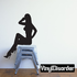 Saluting Woman Silhouette Decal