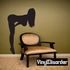 Buxom Woman Bending Over Silhouette Decal