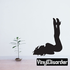 Woman with Legs in the Air Silhouette Decal