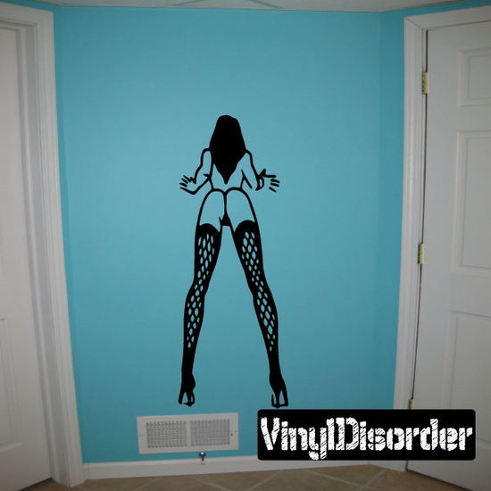 Woman in Fishnets Decal