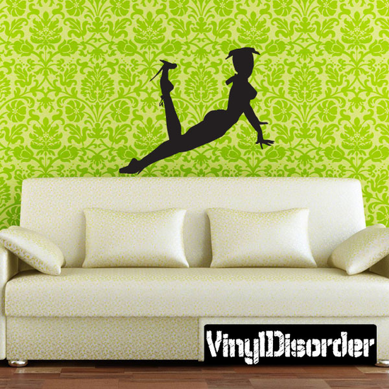 Woman in Frills Silhouette Decal