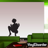 Woman with Jazz Hands Silhouette Decal