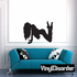 Woman in Vest Silhouette Decal