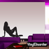 Reclining Woman in Heels Silhouette Decal