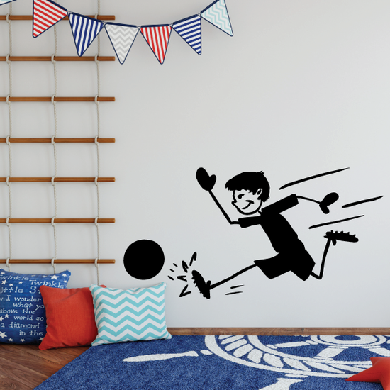 Soccer stick player Sports Vinyl Wall Decal Sticker Mural Quotes Words SPLAYERV
