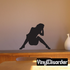 Sitting Woman Playing with Hair Silhouette Decal