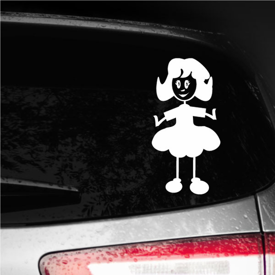 Mom Smiling in Dress Decal