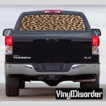 Pick-Up Truck Perforated Rear Window Wrap American Wooden Flag with Custom Text