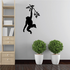 Monkey Hanging on Tree Branch Decal