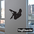 Woman Playing with Lingerie Silhouette Decal