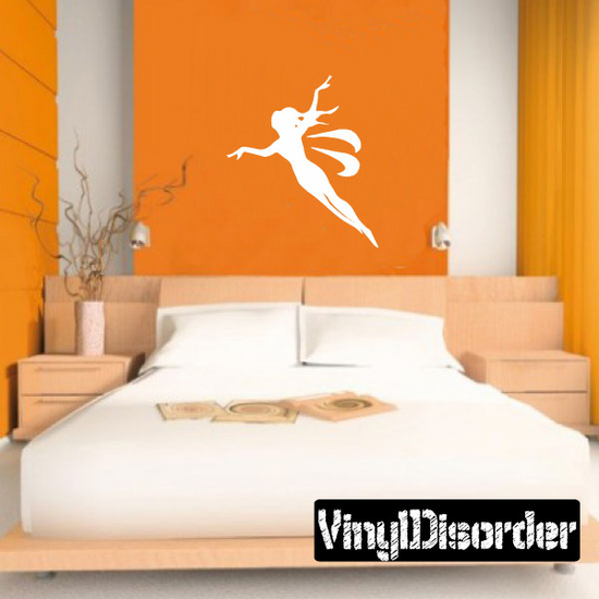 Flying Fairy Silhouette Decal